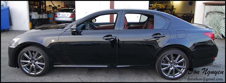 Lexus GS350 Sedan - Gloss Black Window Trim, Grill, Trunk Vinyl Wrap