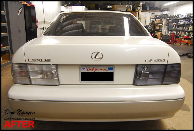 Lexus LS400 Sedan - Tinted Tail Lights Car Wrap