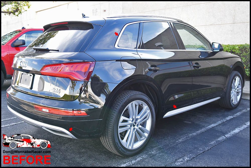 Audi Q5 Suv Gloss Black Chrome Delete Package Vinyl Car Wrap