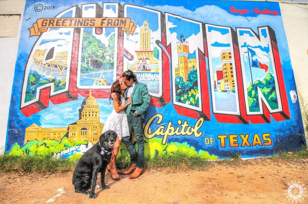 This iconic Austin mural is located on South 1st and Annie St.