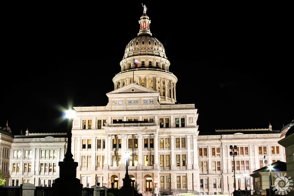 The Texas State Capitol is 308 feet tall, making it the sixth tallest state capitol.