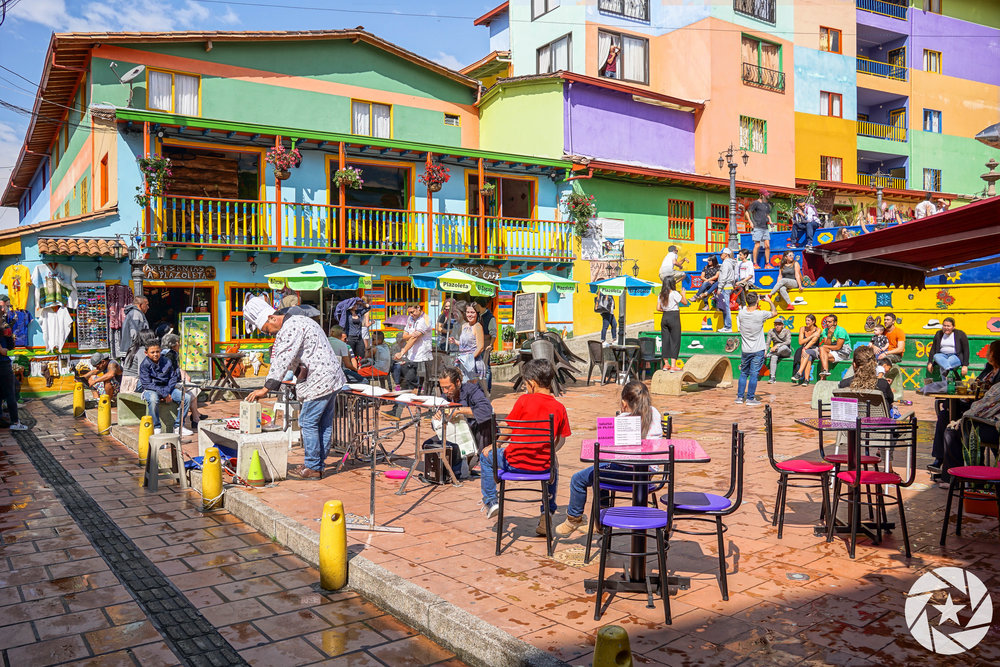 Colorful Buildings in Guatape, Colombia