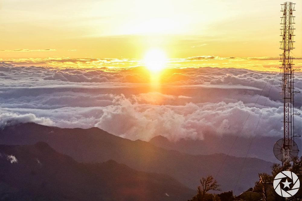 Sunrise from Volcan Baru in Boquete, the highest peak in Panama.