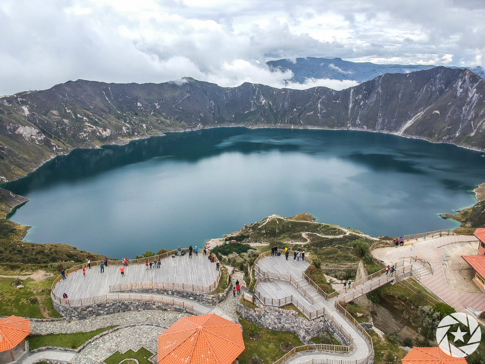 Quilotoa Lake in Ecuador