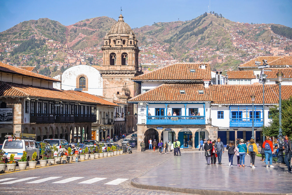 Plaza del Armas in Cusco, Peru