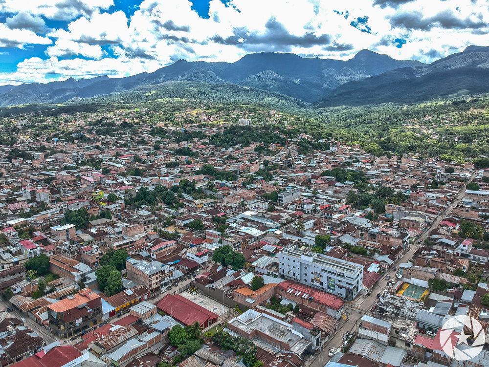 Aerial photo of Tarapoto, Peru