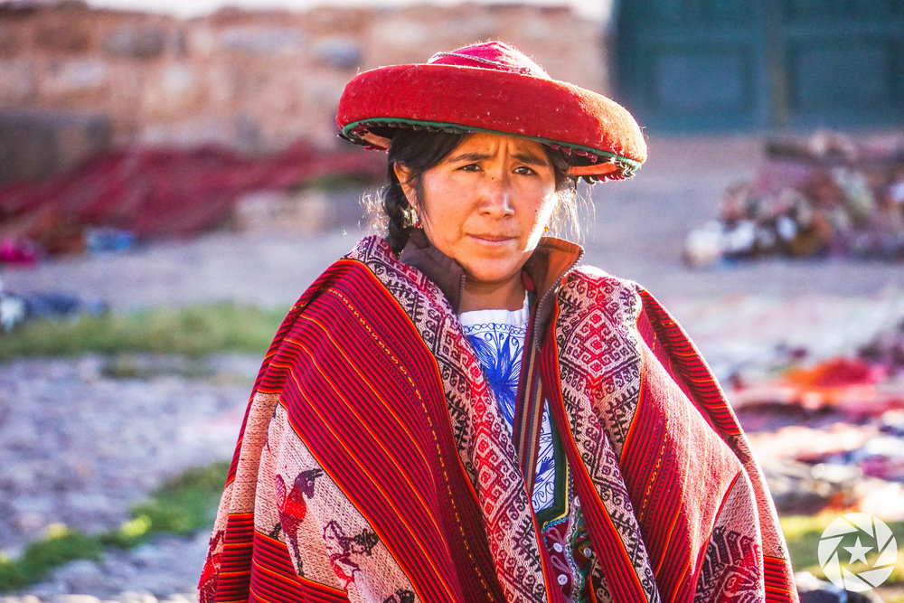 Local clothing merchant in the Sacred Valley.