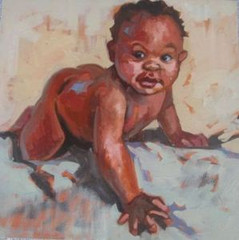 Coral Spencer - Baby - Oil on Canvas - 40x40cm - Sold