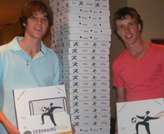Owen Laroque and James Mellon - folding boxes that reached the ceiling several times over