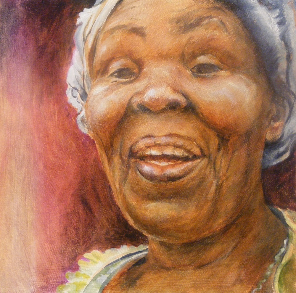 Maggie Strachan's Nomsebenzi Bekwa (Grace) - Oil on Canvas - Sold