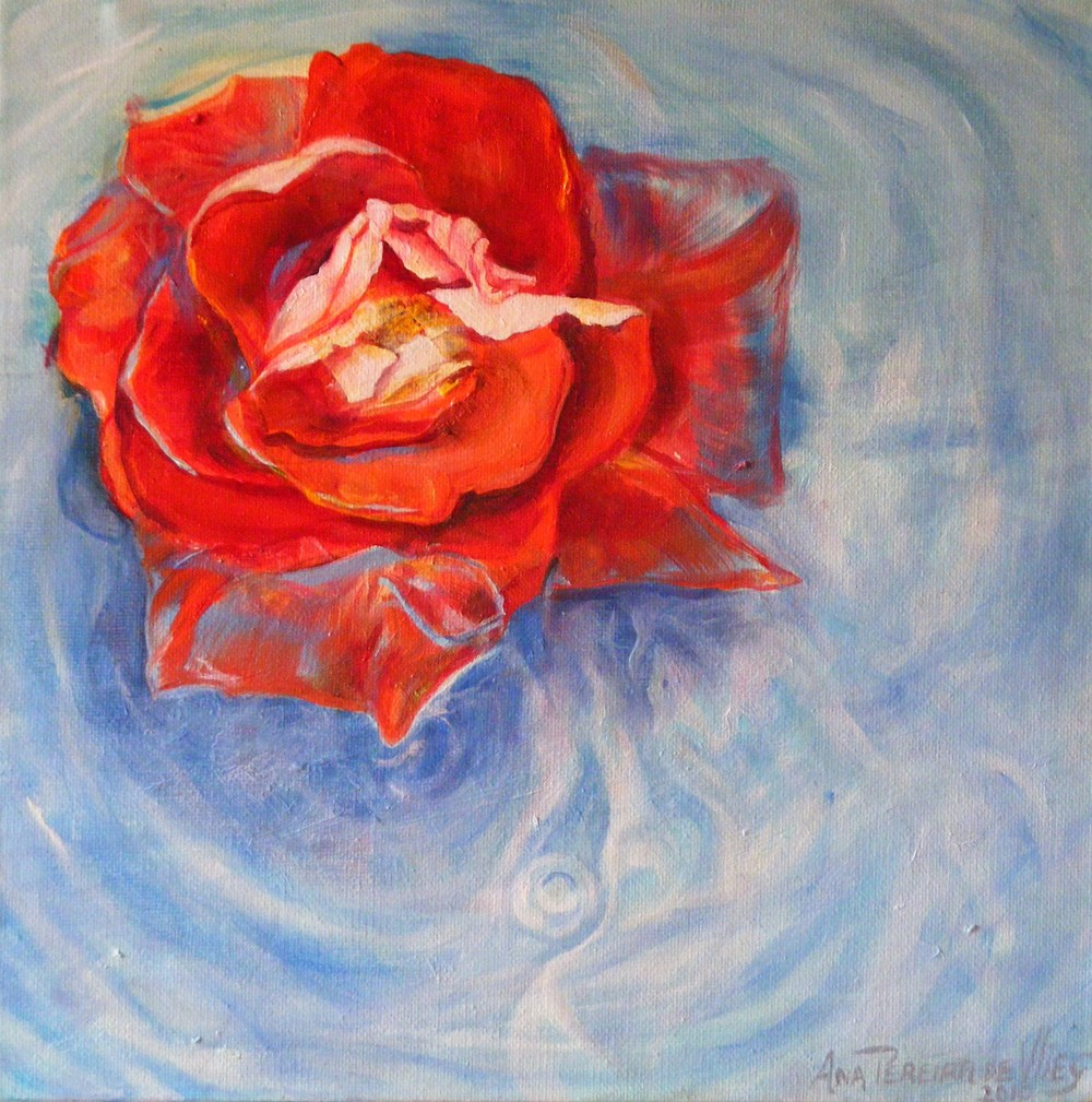 Ana De Vlieg's The Rose of Sharon   Oil on Canvas - comp