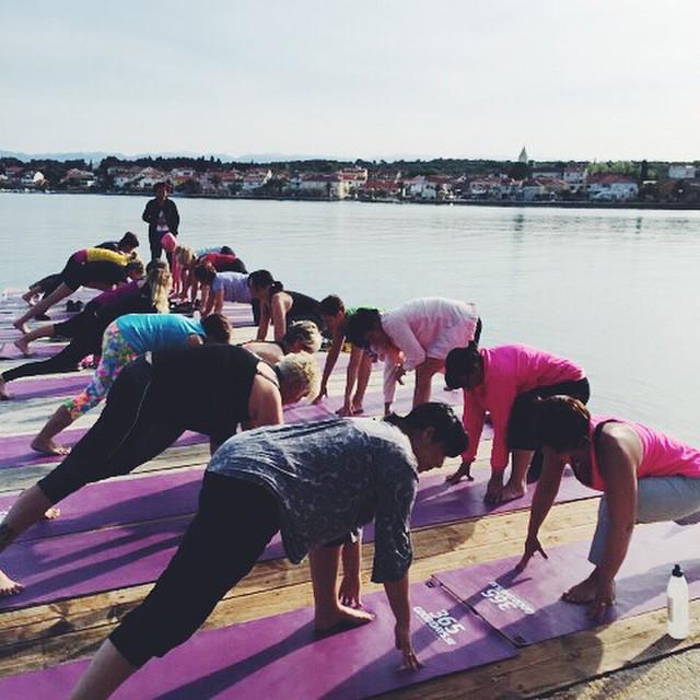 Morgon Yoga i Kroatien är bästa starten på en ny dag 💕