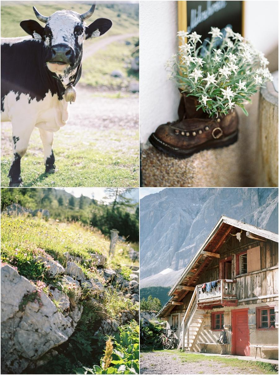 Siegrid Cain Hochzeit Tirol Austria Karwendel Tracht Tattoos Brautkleid Gössl Gebirge Sommer Verliebt Grauvieh Edelweiss Alpine Almhütte alternative Hochzeit barfuss Sommerblumen Brautstrauss_0022.jpg