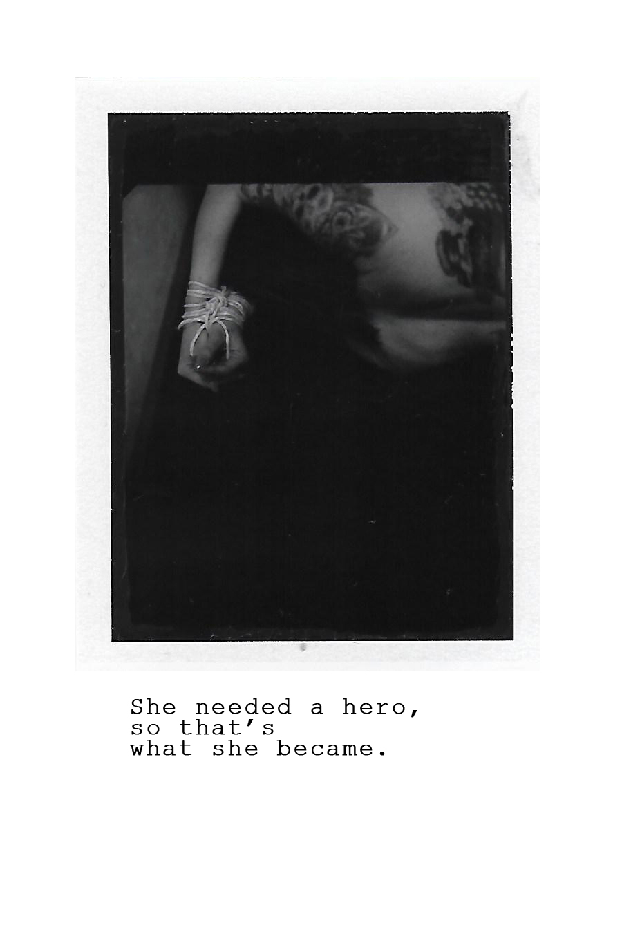 Siegrid Cain Darkroom Instant Film Analog Art Woman bondage darkroom project