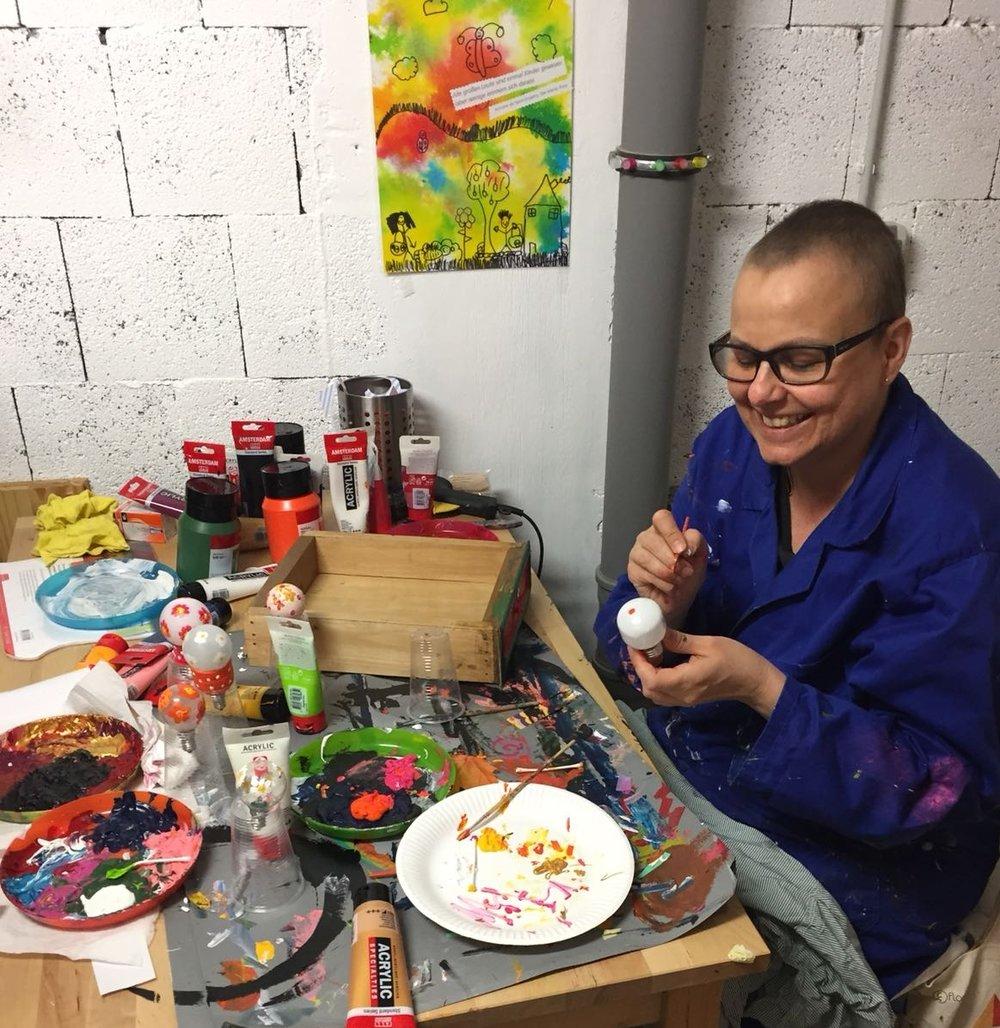 - La créativité m'a aidé à surmonter mon combat contre la maladie.Je pouvais oublier ces moments difficiles.