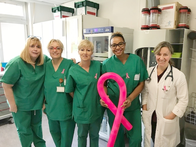 Equipe de l'Unité technique de chimiothérapie