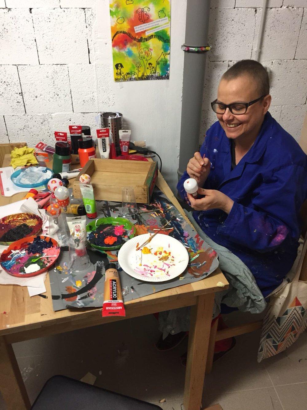 - La créativité m'a aidé à surmonter mon combat contre la maladie.