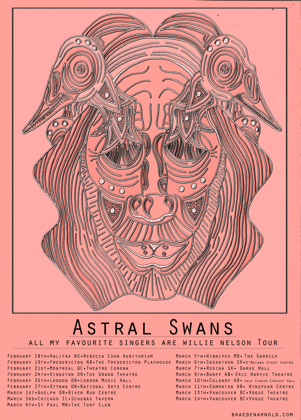 Astral Swans - Tour Poster