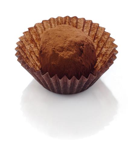 <B> ROSS</B>  <P ALIGN=Left>Dark chocolate Whisey ganache truffle rolled in cocoa powder</P>