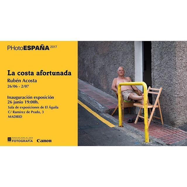 El próximo lunes 26 junio a las 19:00 @la_costa_afortunada llega a Madrid y se expone en @photoespana_ Será en la sala El Águila de la Comunidad de Madrid y se estará fresquito 😉