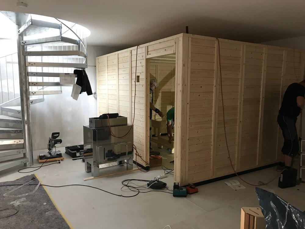 Der Blick hinter die Kulissen... Saunaaufbau am Freitag 11.08.