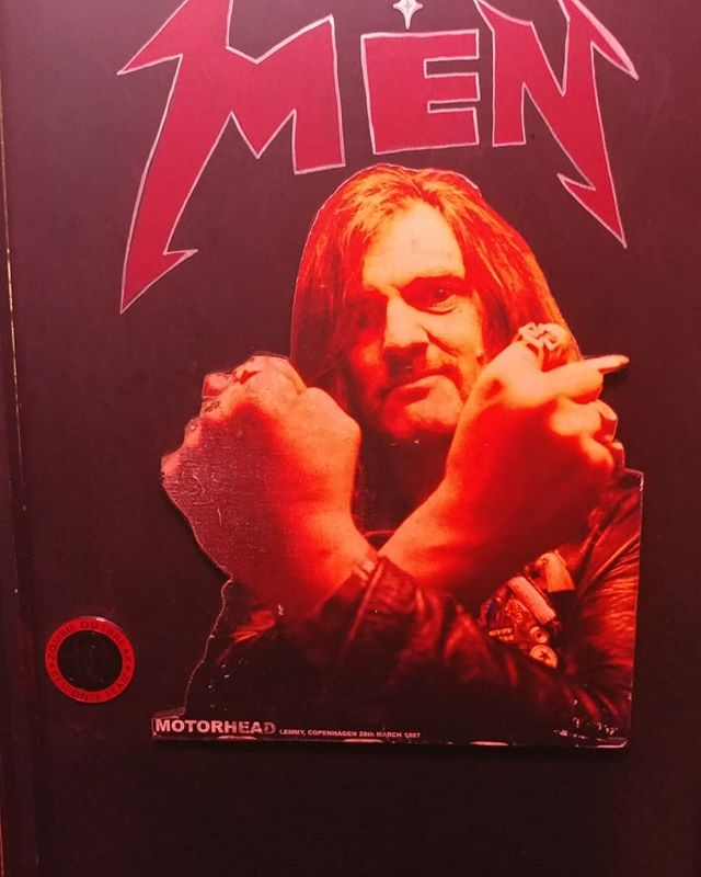 @lucky13saloon it is really confusing when you have a door that says men's but a picture of a God on it. #lemmyforever