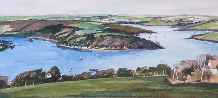KINGSBRIDGE ESTUARY  oils on board