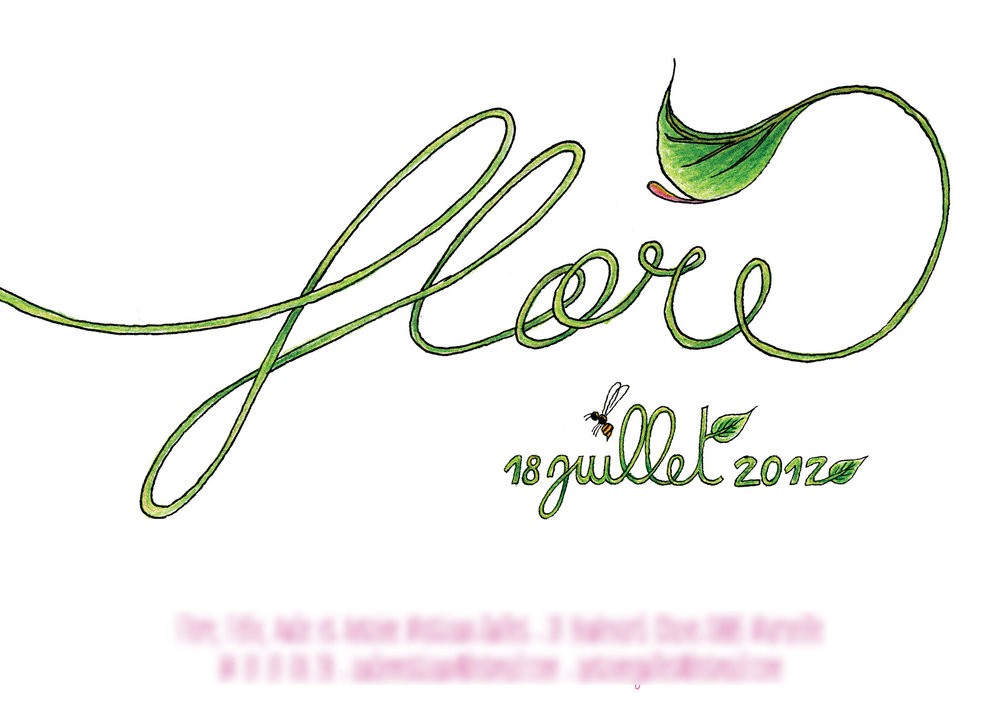Faire-part de naissance Flore  verso