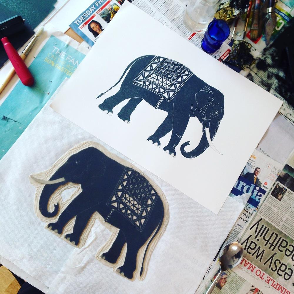 Printing elephant by Lindsay McDonagh