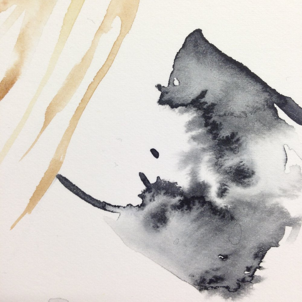 Watercolour experiment by Lindsay McDonagh
