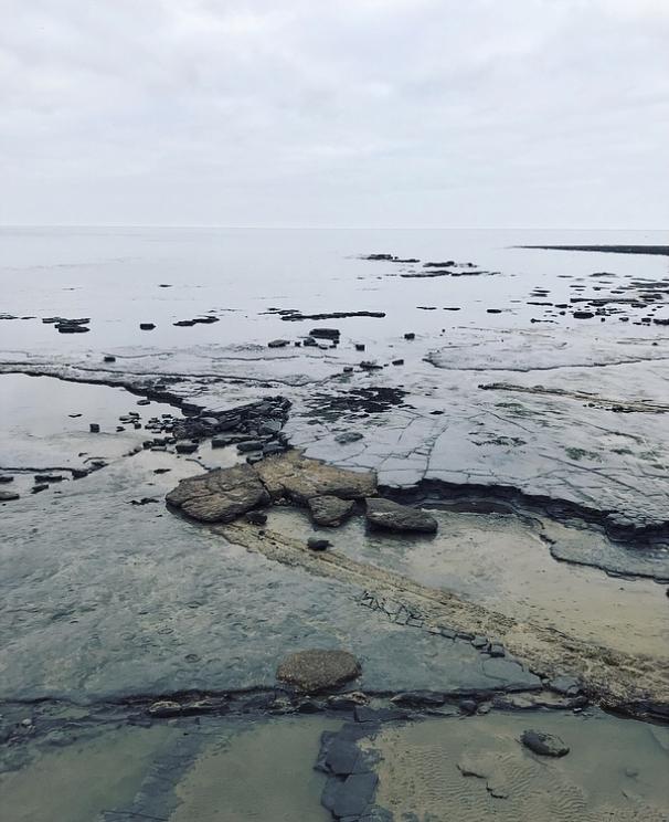 Lyme Regis beach Lindsay McDonagh