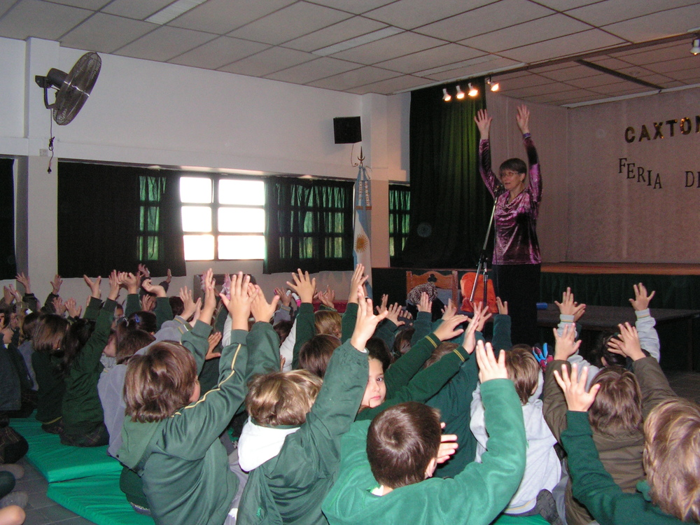 Stretch in between stories at Caxton School, Buenos Aires