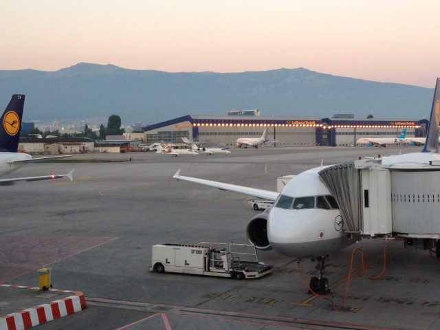That's it for the pictures of Bulgaria for now. I may post a few more. Oh, here's the last one, at sunrise on July 7, as I was leaving the country.   До скоро!