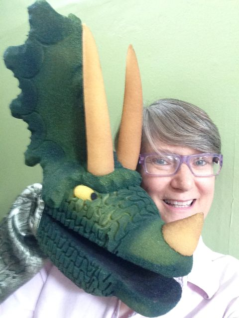 Triso, the triceratops, and me.