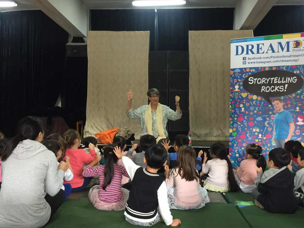 This group of young children in Ningbo was delightful. We carried the DreamOn banner with us to all the schools. At one school, in the Q & A, a child asked who the boy on the banner is. I don't know!