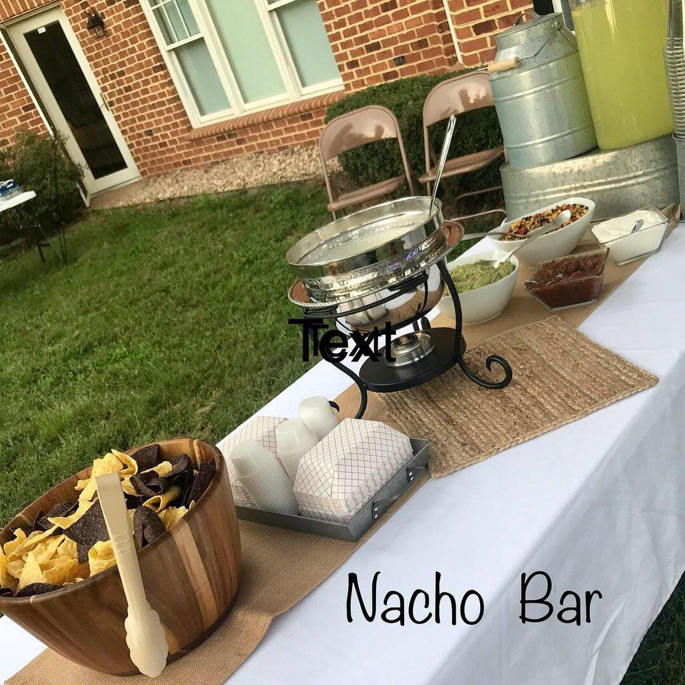 Nacho Bar at a Private Event!