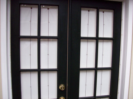 A new set of french doors were installed, replacing a set that had failed.