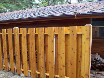 A 5/4 x 8 Cedar Privacy Fence