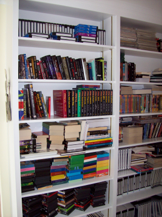 Built in bookcase with adjustable shelves
