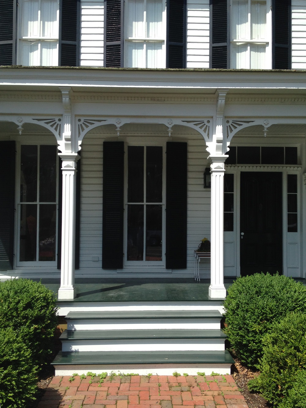 A historic home that had a lot of rot was repaired and painted