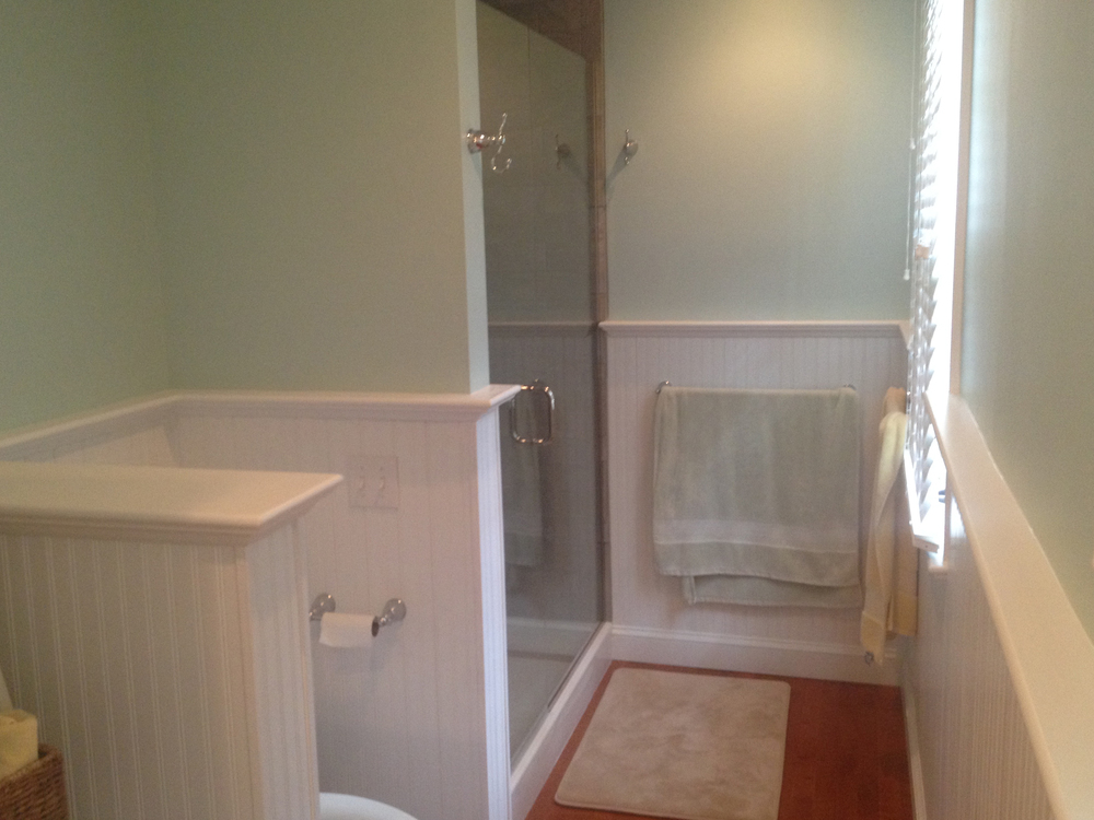 A remodeled bathroom