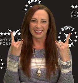 Inspirational Olympic gold medalist Amy Van Dyken-Rouen after spinal cord injury.