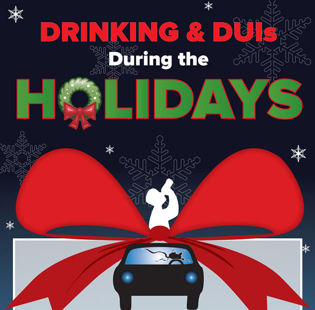 Click to view a Drinking & DUIs During the Holidays infographic