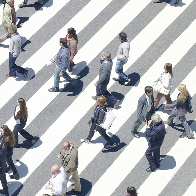 Use marked crosswalks: Eighty-two percent of pedestrian deaths occur outside the crosswalk.