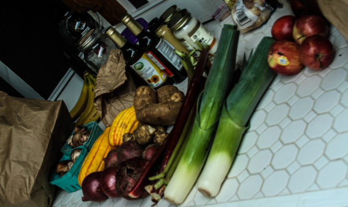Some of the ingredients used to prepare the delicious snacks provided by Dave and Natasha.