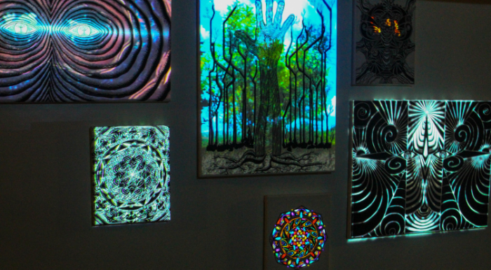 Interactive projection mapped art collaboration byJay Jondale and EMP Productions.