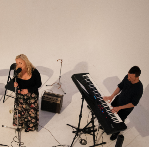 Kristina Helene and Thomas Kinzel performing in the White Void.