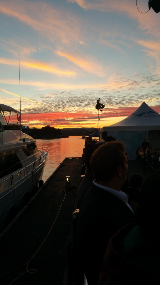 Amazing sunset at the Inner Harbour for this year's Fashion Splash.