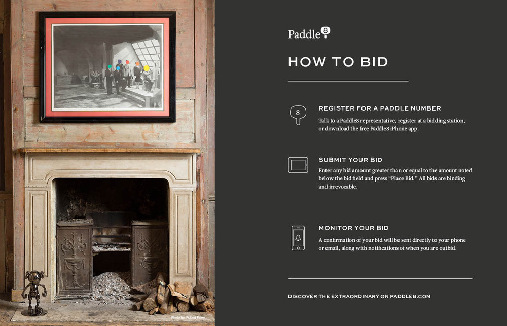 Digital ad for Paddle8