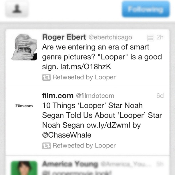 The closest I'll ever be to the illustrious Roger Ebert. I'm ok with this.